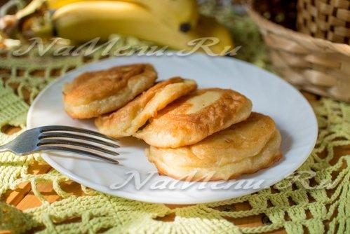 Банановые оладьи с ванилью