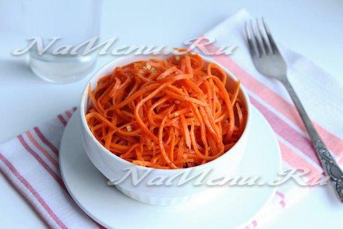 Морковь, маринованная по-корейски
