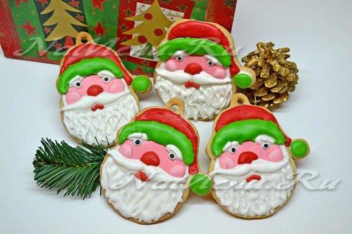 Печенье «Дед Мороз с лохматой бородой»