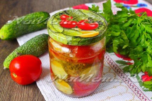 рецепты салата из помидор дольками пальчики оближешь