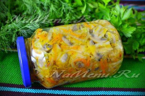 Грибная солянка из шампиньонов на зиму