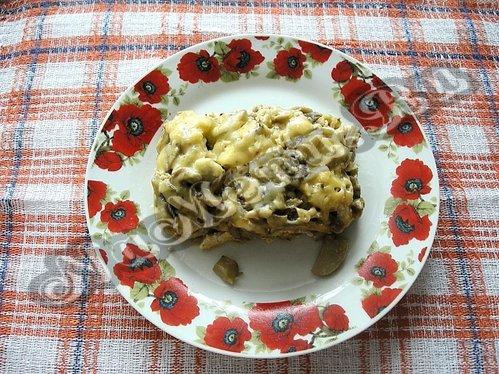 жульен с курицей и грибами рецепт без сливок #11