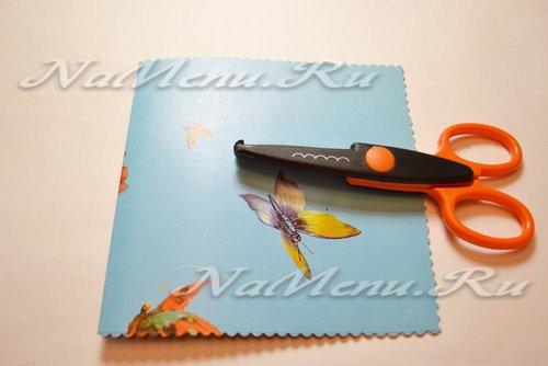 Используем фигурные ножницы