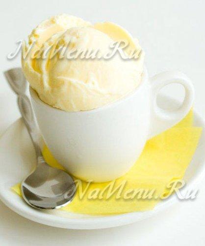 Мороженое со вкусом пломбира