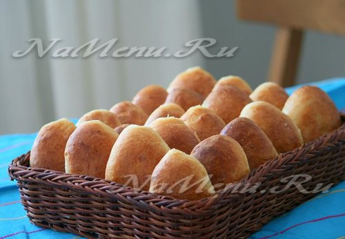 Дрожжевые пирожки на кефире с грибами