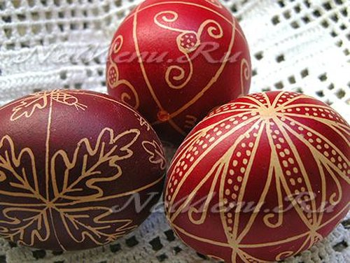 Натуральные красители для пасхальных яиц