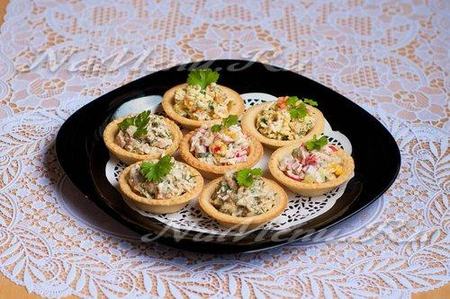 Бутерброды из тарталетокы с фото