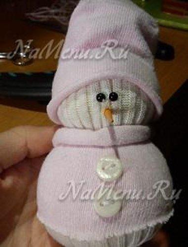 снеговика из носка