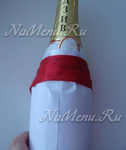 Задняя часть бутылки