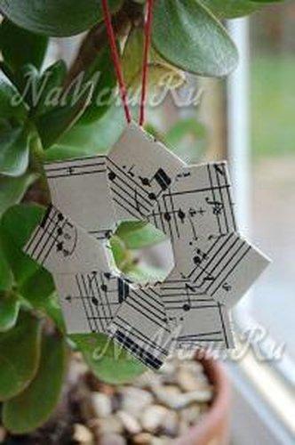 Снежинка на Новый год оригами