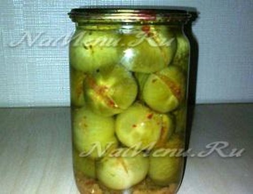 Консервированные острые зеленые помидоры на зиму рецепты