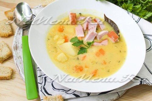рецепт вкусного горохового супа без мяса с фото