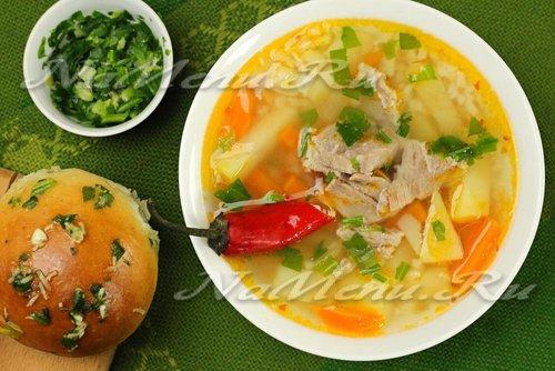 Суп с картошкой и мясом рецепт пошагово