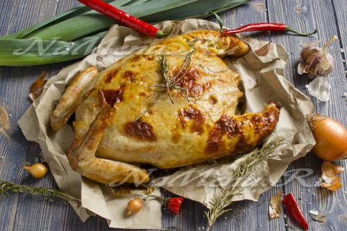 Фаршированная курица без костей фото рецепт
