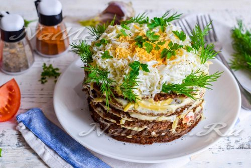 Печёночный торт рецепт с пошагово из куриной