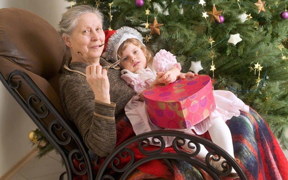 Открытка для бабушки на новый год фото