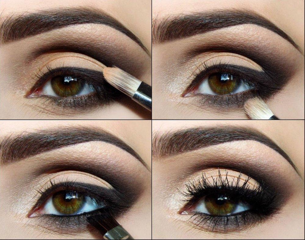 стоит макияж глаз пошаговое фото с описанием может просто так