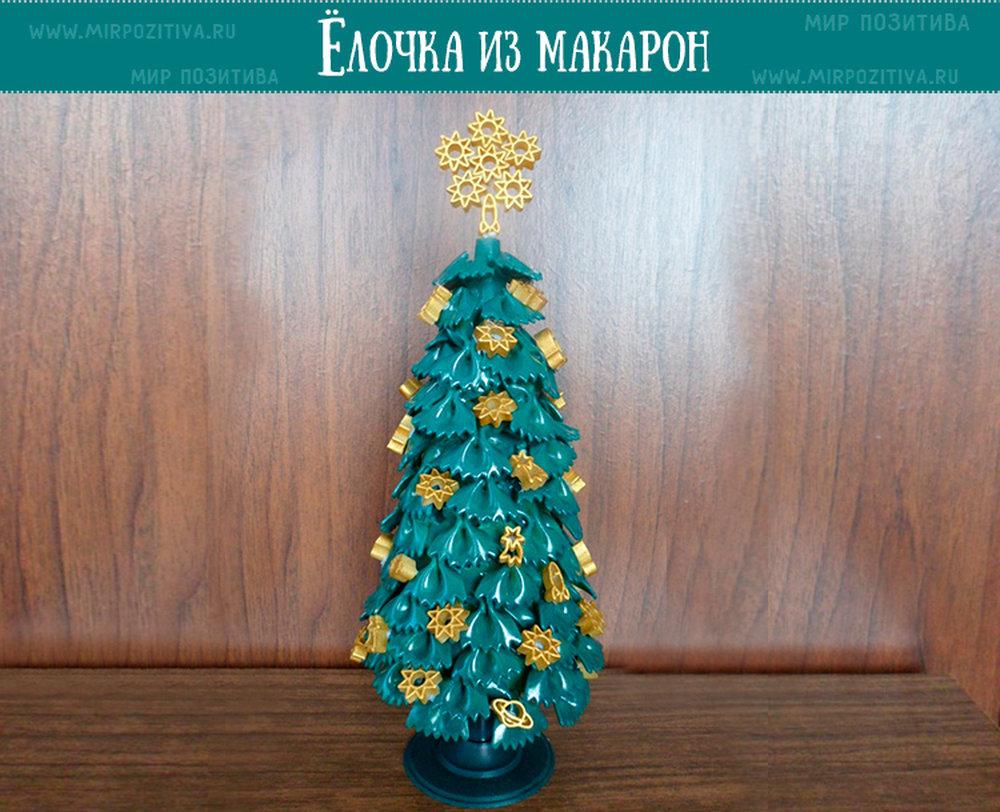 пошаговому елка из макарон своими руками поделка пошагово закрутить
