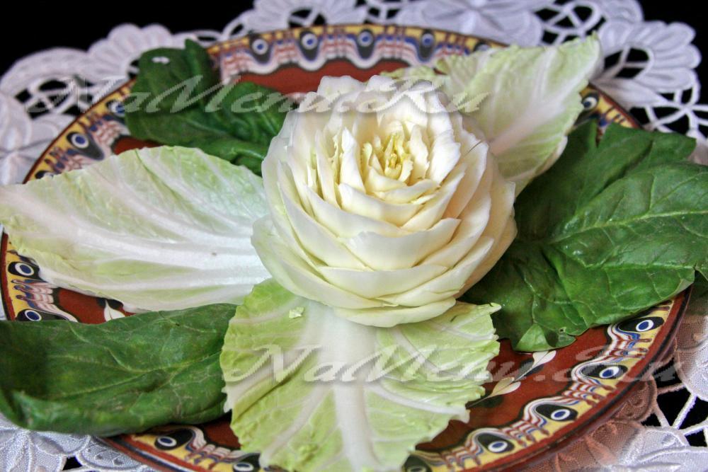образом роза из пекинской капусты фото время
