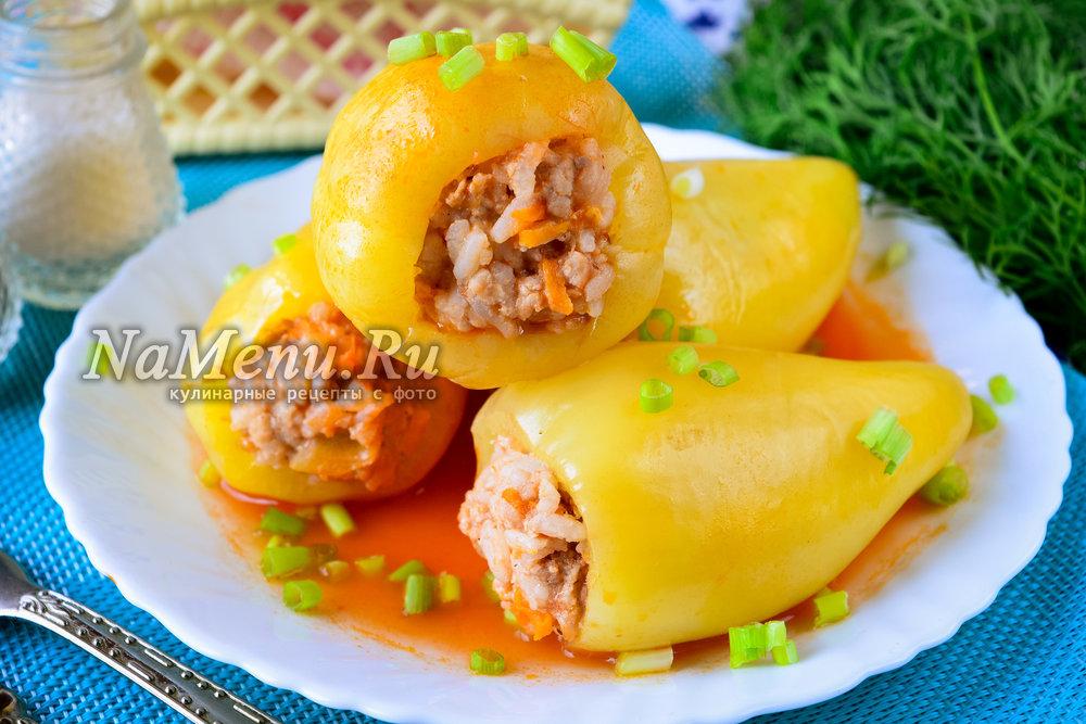 Перцы фаршированные мясом и рисом рецепт с фото в пароварке