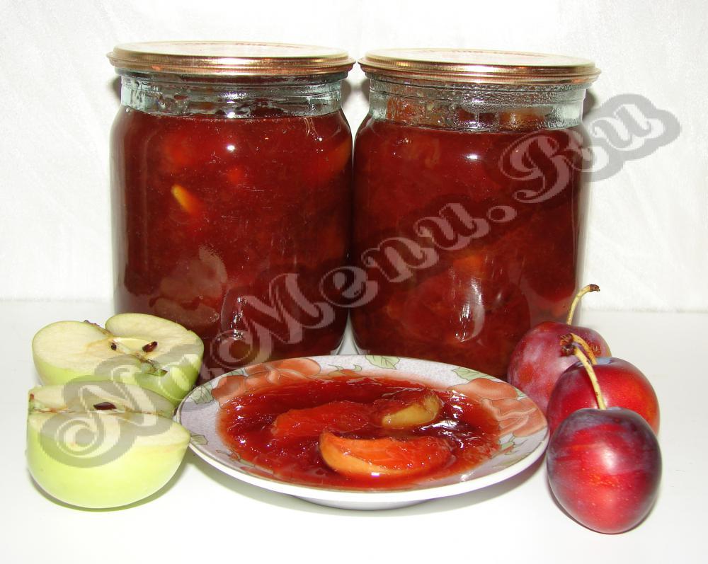 Яблочно-сливовое варенье новые фото