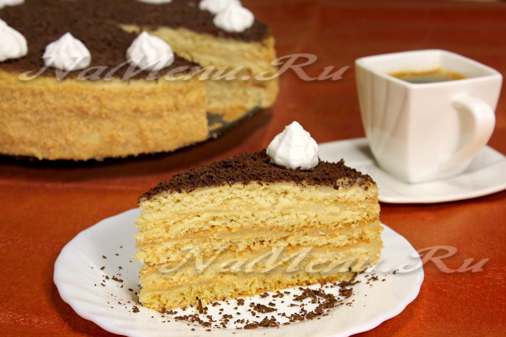 как приготовить песочный торт с кремом