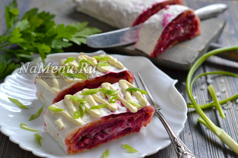 рецепт приготовления салата шуба по новому в лаваше