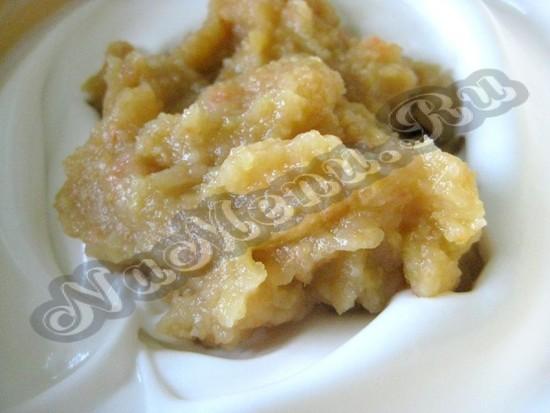 Добавляем яблочное пюре
