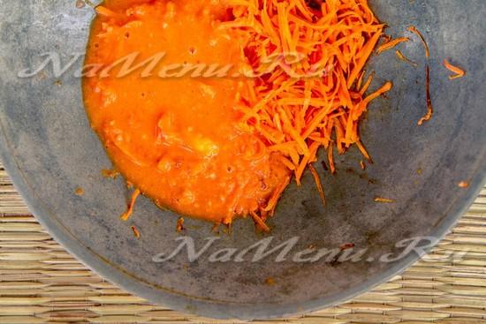Соединяем с морковью