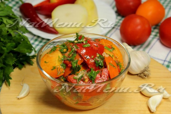 Маринованные помидоры с чесноком и медом