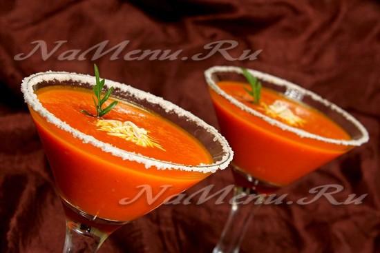 крем-суп из помидоров