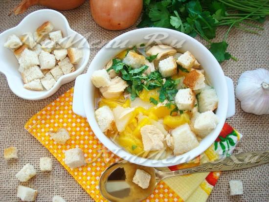 Чесночный суп в мультиварке