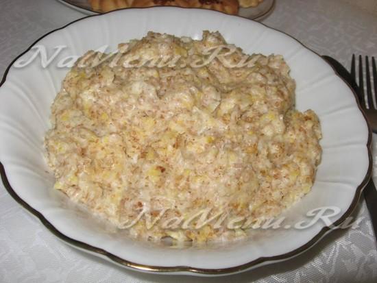 """Каша """"5 злаков"""" с малиновыми сливками – кулинарный рецепт"""