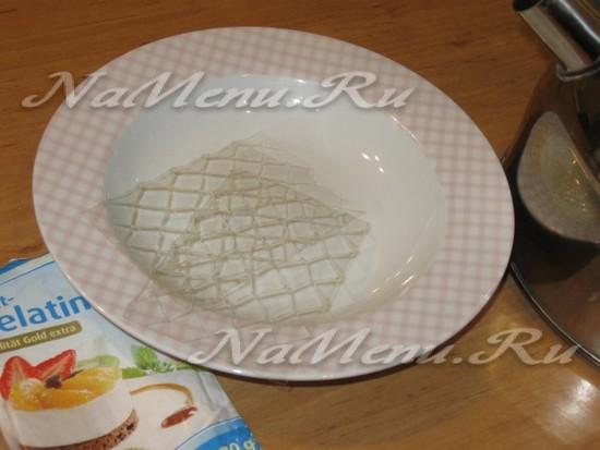 Растворить желатин