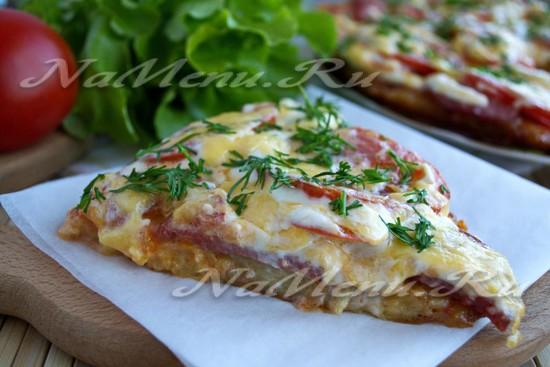 рецепт картофельной пиццы
