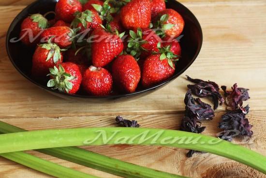 Варенье из клубники и ревеня – кулинарный рецепт