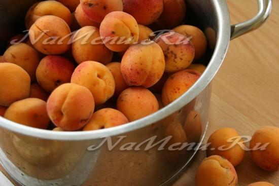 абрикосы помыть