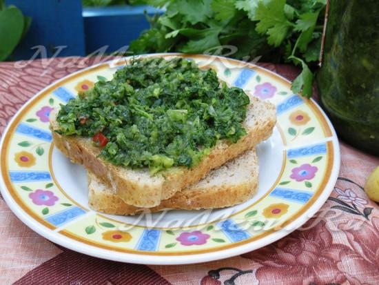 рецепт зеленой аджики на зиму