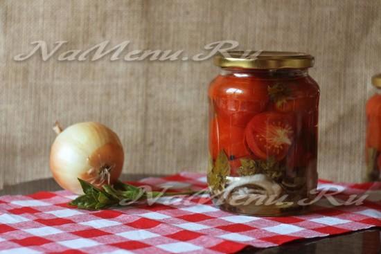 помидоры с базиликом на зиму