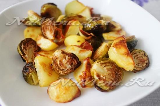 Запеченная брюссельская капуста в духовке, рецепт