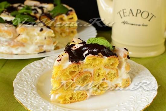 рецепт торта из эклеров
