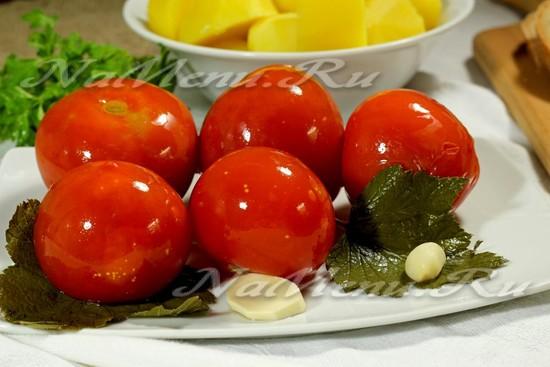 рецепт помидор, квашенных в банке