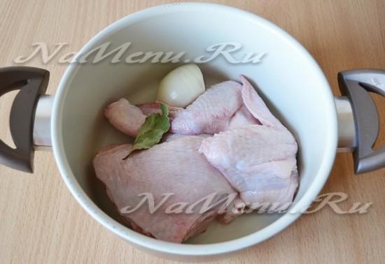 Добавляем курицу