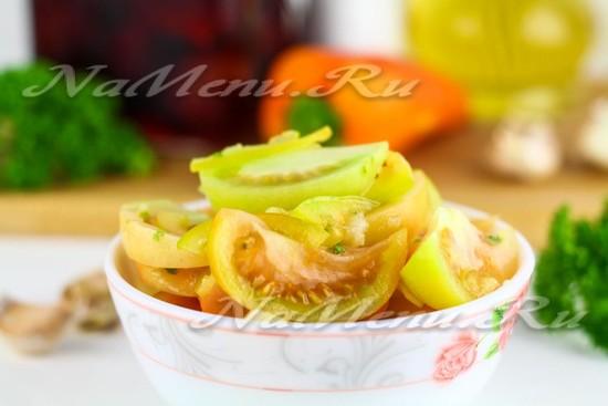 Зеленые помидоры по-корейски: самый вкусный рецепт