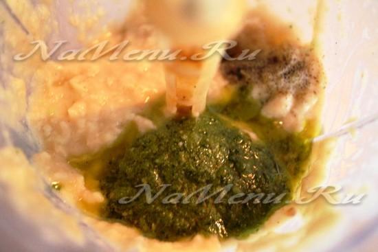 добавляем базилик к фасоли