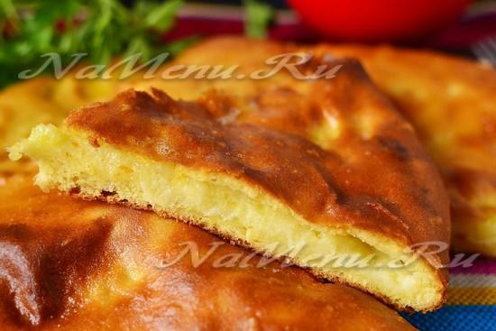 рецепт осетинского пирога с сыром и картофелем