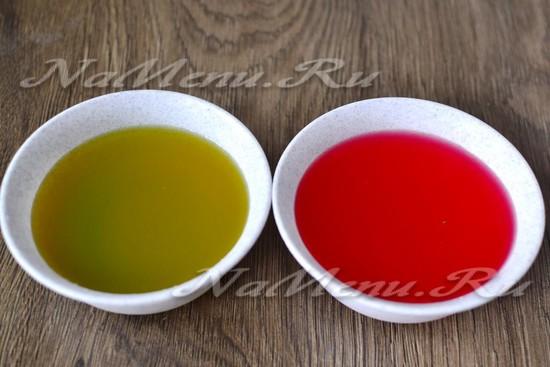 готовим разноцветные желе из пакетиков