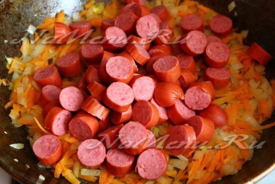 добавить охотничьи колбаски