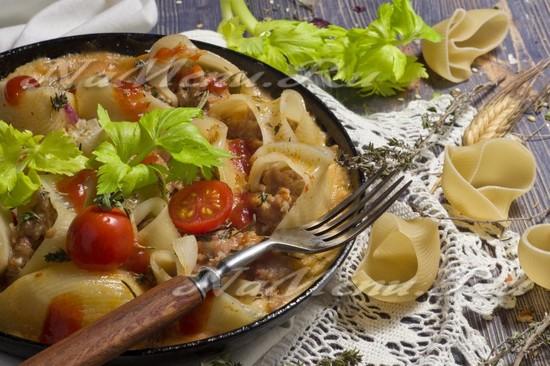 Рецепт фаршированных макарон ракушек