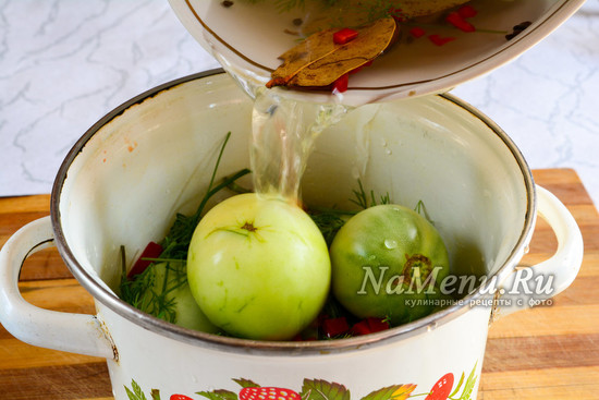 Залить маринадом